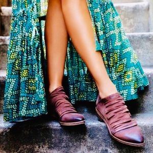 RARE Free People Lost Valley Booties in Eggplant